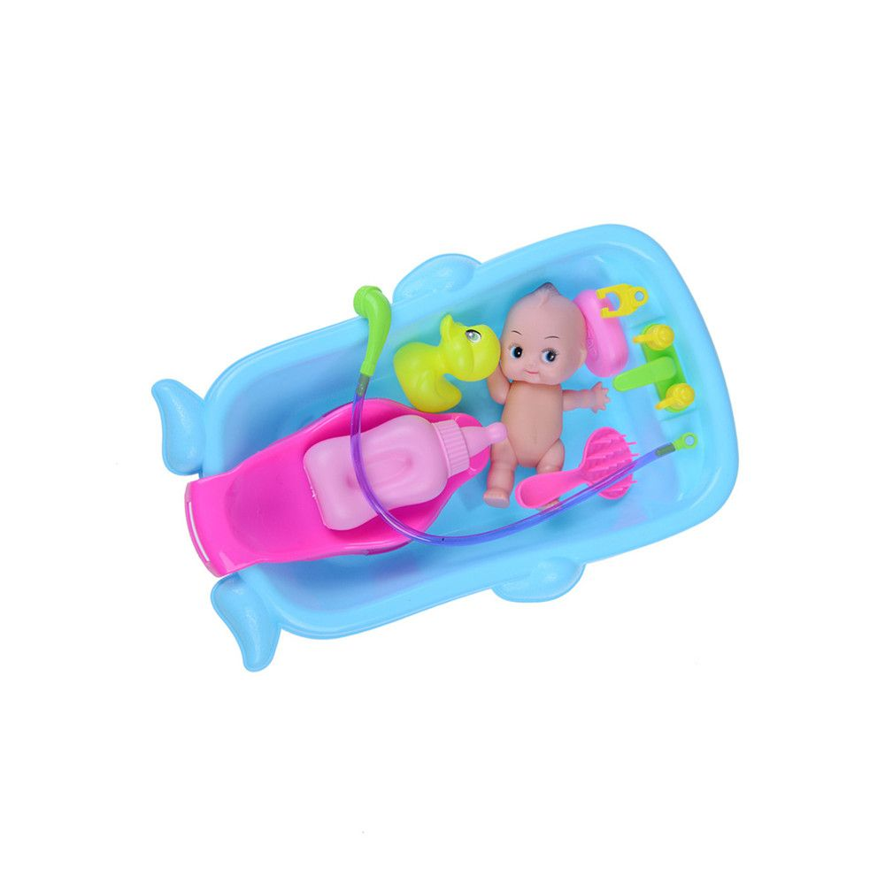 Blue Cognitive Bathtub Floating Toy Bathroom Game Play Set Early ...