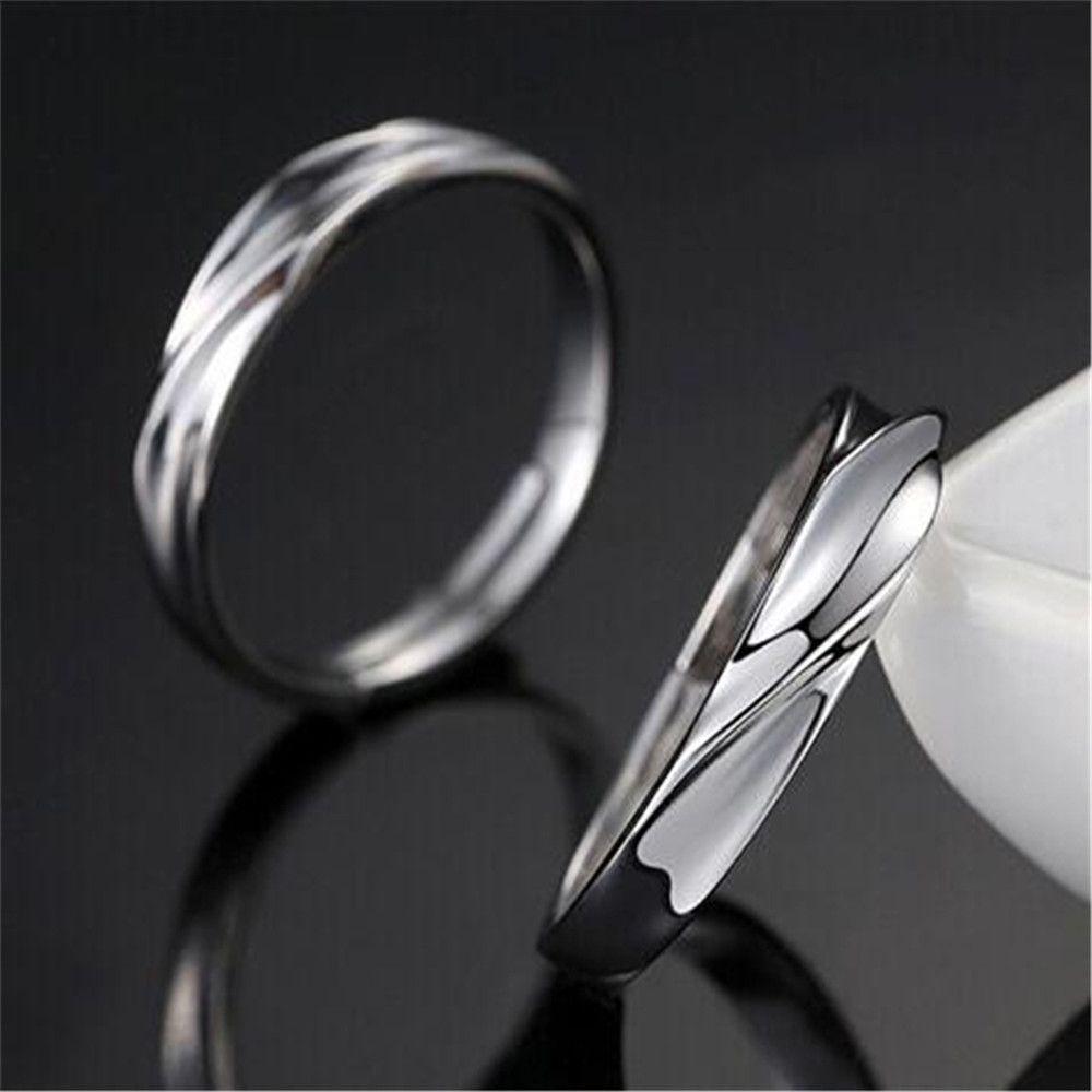 Silver Ataullah New 925 Silver Lovers\' Rings Men And Women Trendy ...