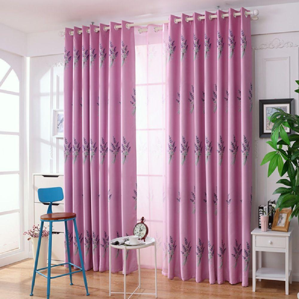 Lavender window curtains