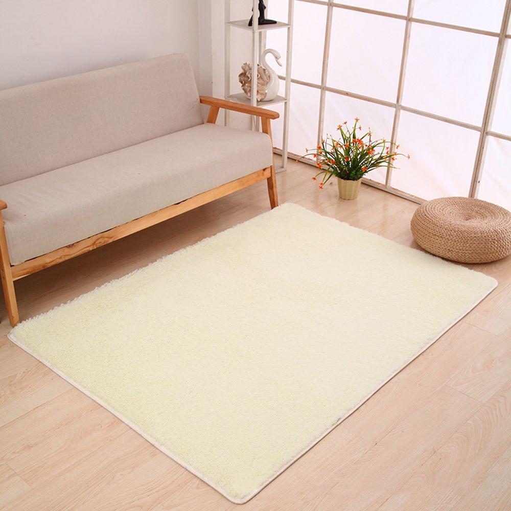 White 140x200cm Door Rug Simple Fresh Style Rectangle Yoga
