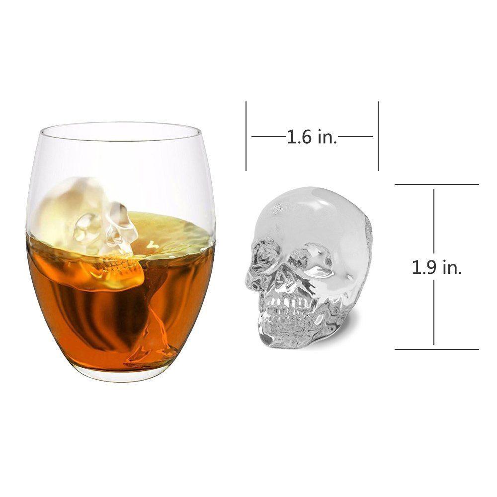 Kết quả hình ảnh cho 3D Skull Ice Cube Molds
