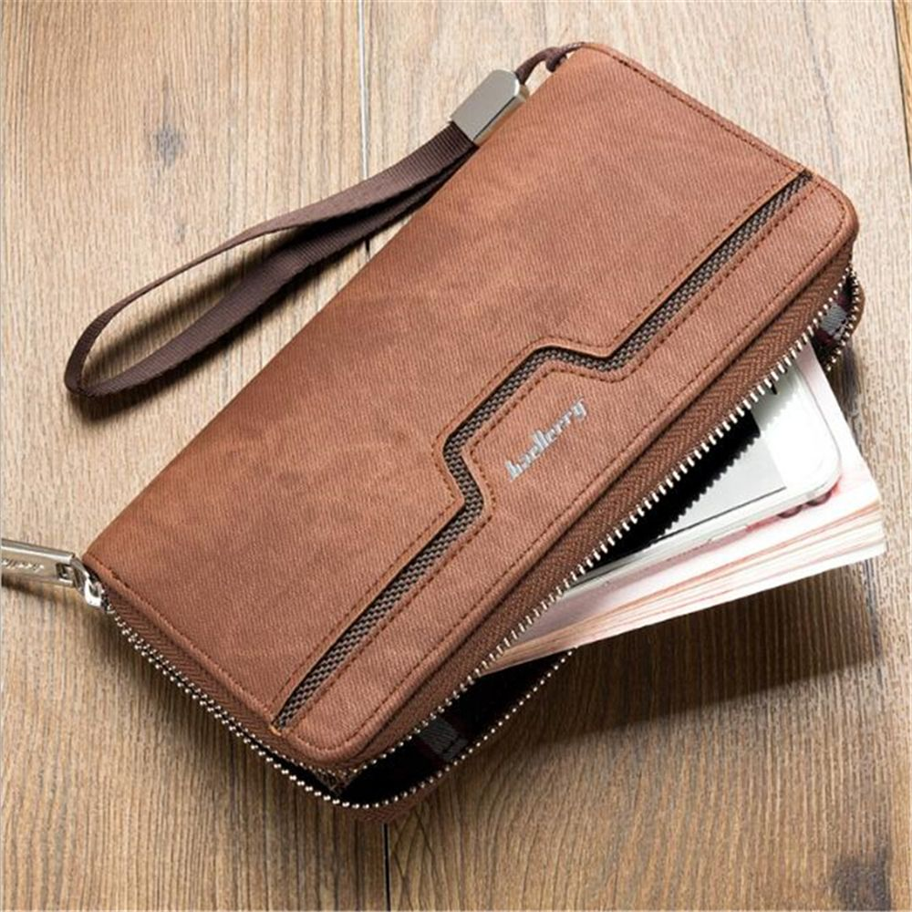 Uncategorized Quality Of Leather black top quality leather long wallet men purse male clutch zipper around wallets women money bag
