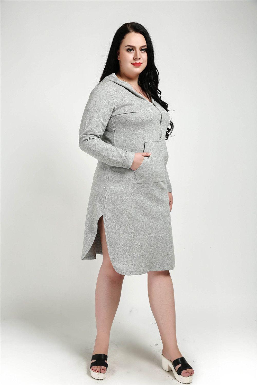 97e66dc1723 44% OFF  Cute Ann Women s Zip Design Plus Size Loose Sweater Dress ...