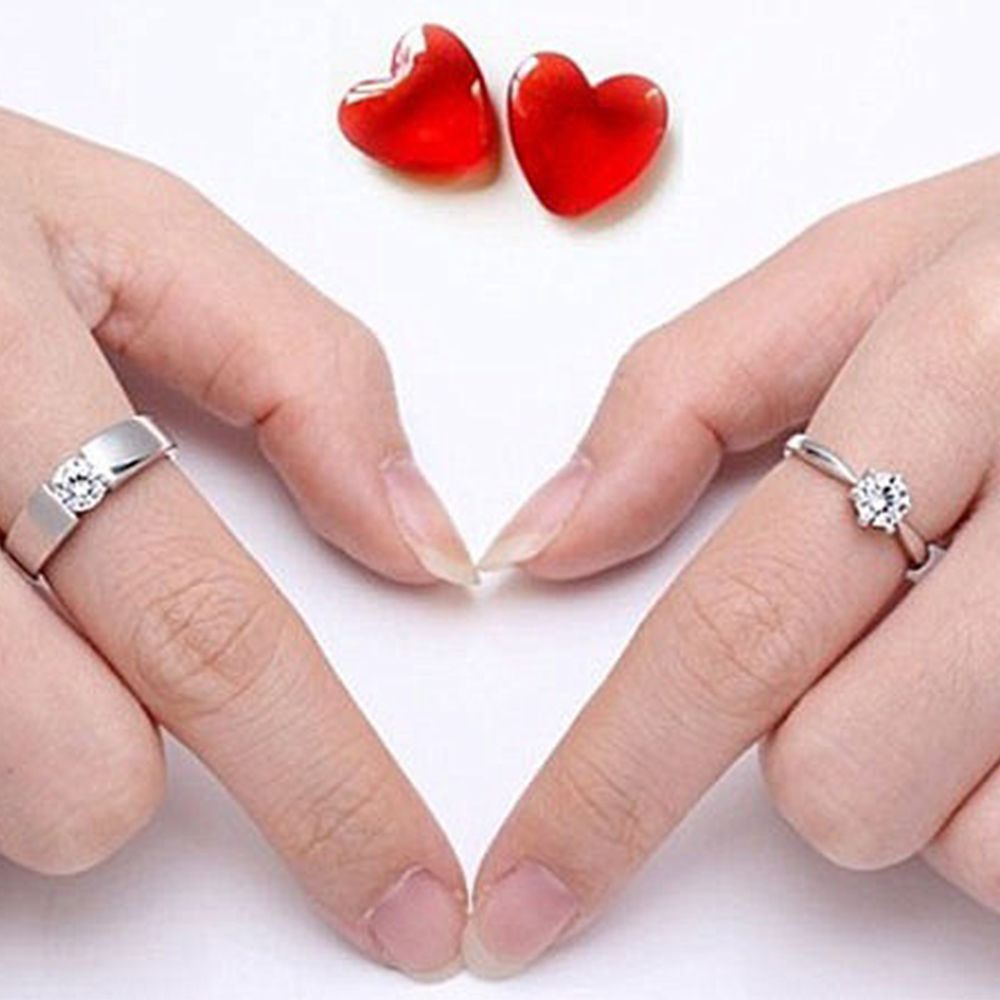 couples rings in yl heart silver promise item wedding engagement sterling jewelry pink lady women love from fine for pure real accessories