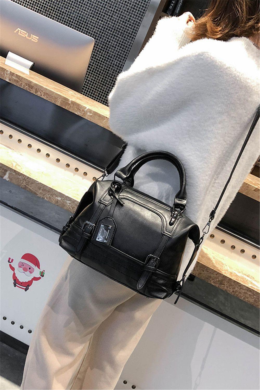brun sac main portable simple sac la mode atmosph rique occasionnel sac bandouli re. Black Bedroom Furniture Sets. Home Design Ideas