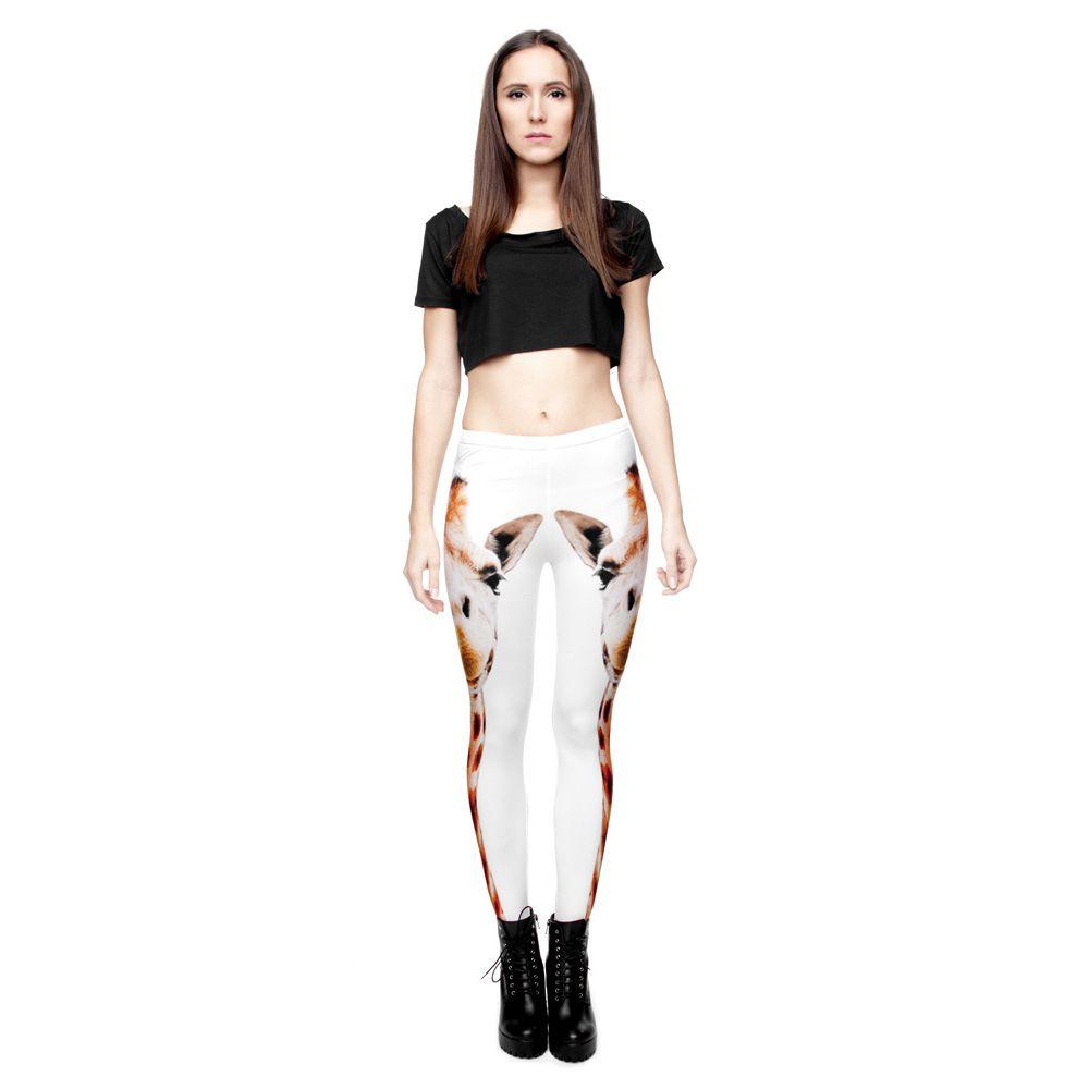 1dfbb7f810 New Fashion Funny Giraffe Printing Pants Ladies Fitness Leggings Yoga Pants