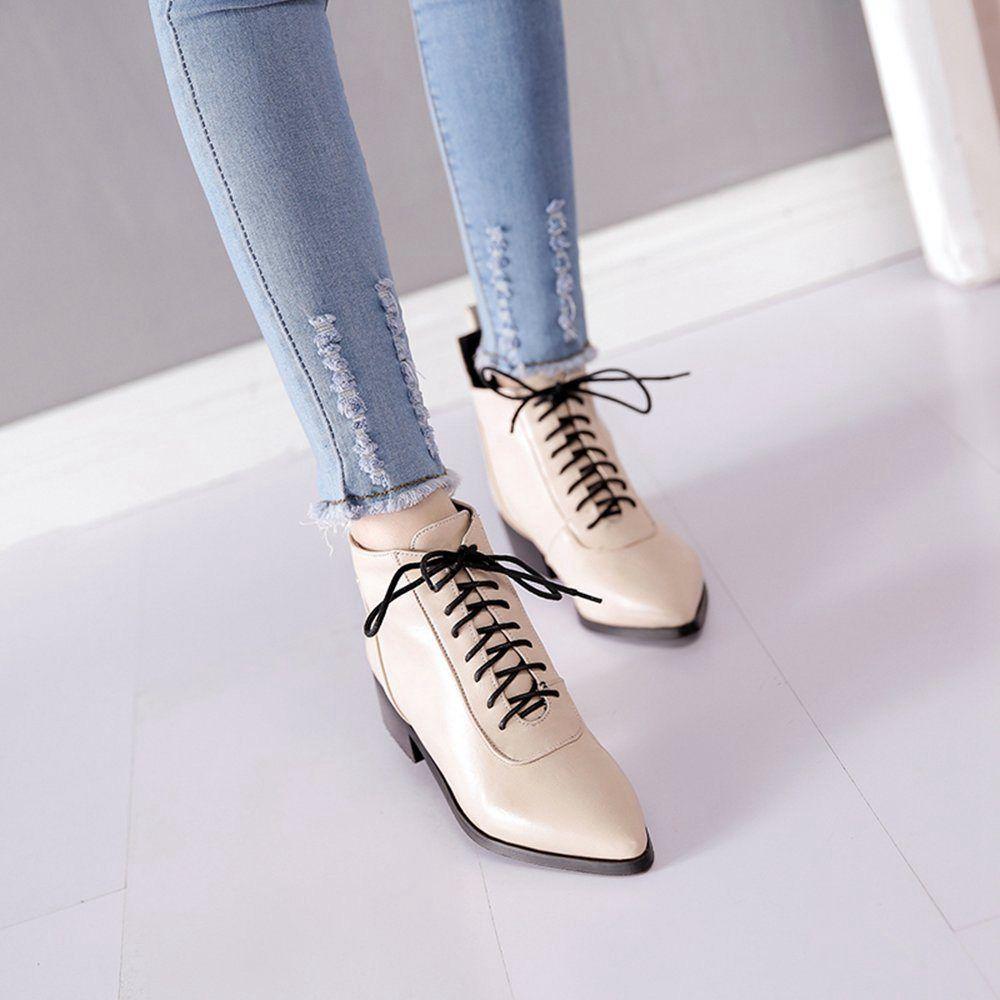 Nouvelles chaussures femme grande taille talon plat bout pointu bottines de mode chaussures pour femmes