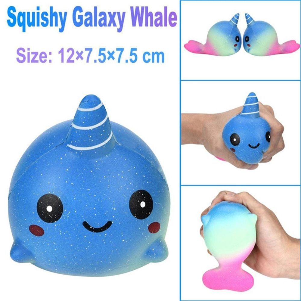 colour exquisite fun big whale scented squishy charm slow
