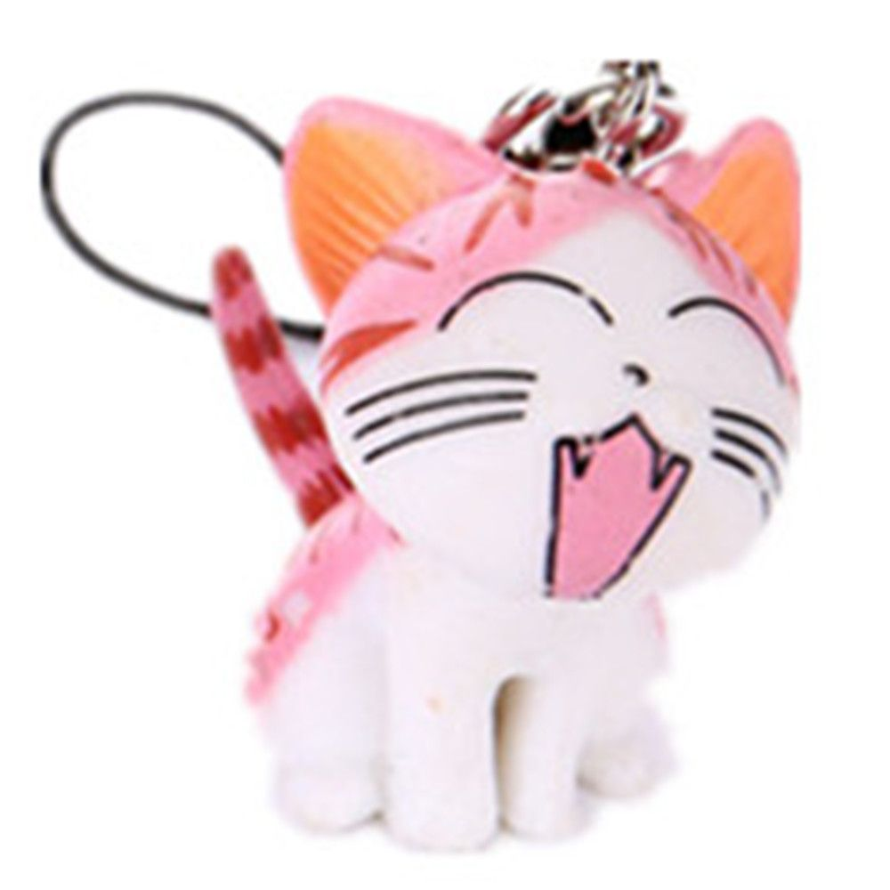 Pink Cat 3pcs Cat And Tiger Clips Keychains Toy Decoration ...