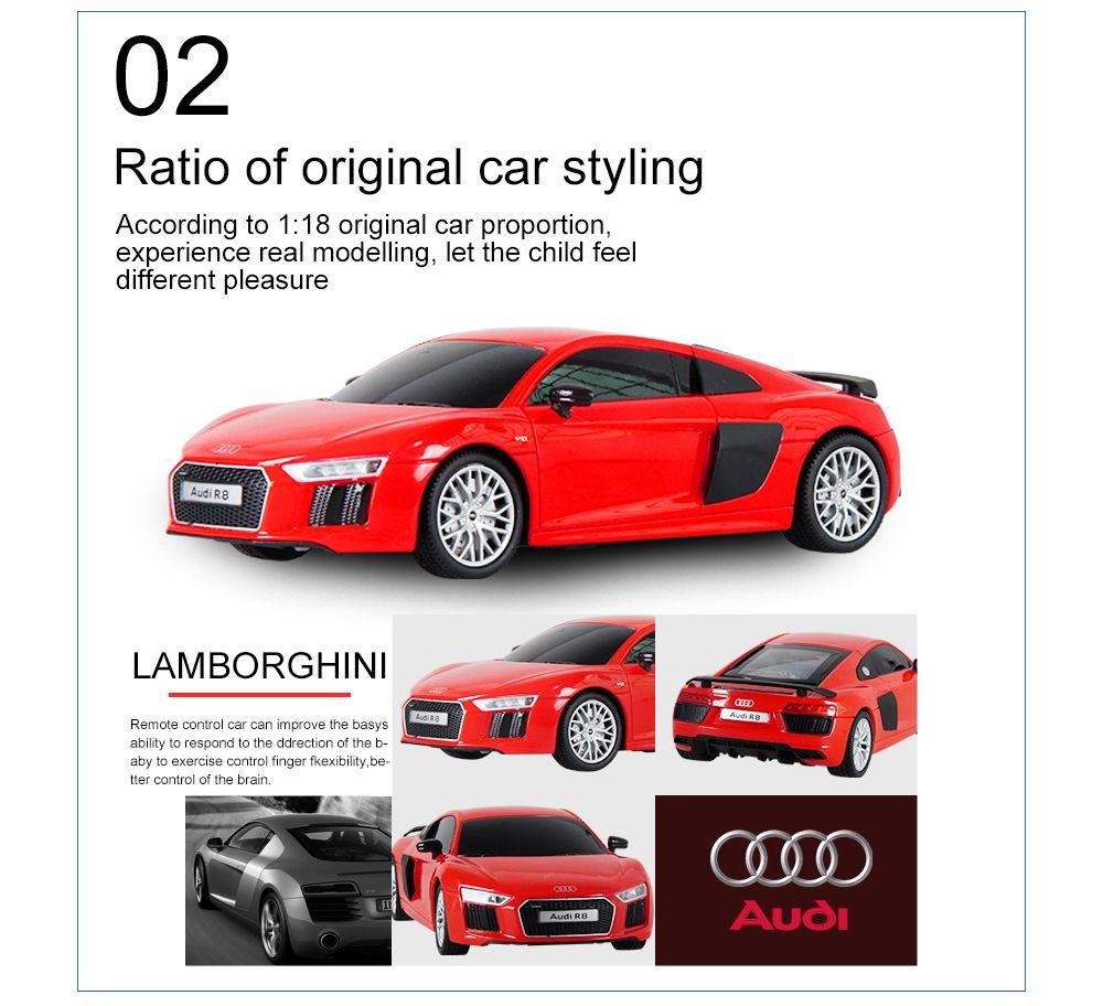 Attop 1815 Audi R8 1:18 Authorizes Remote Control Car Simulation Drifting  Racing Car Racing