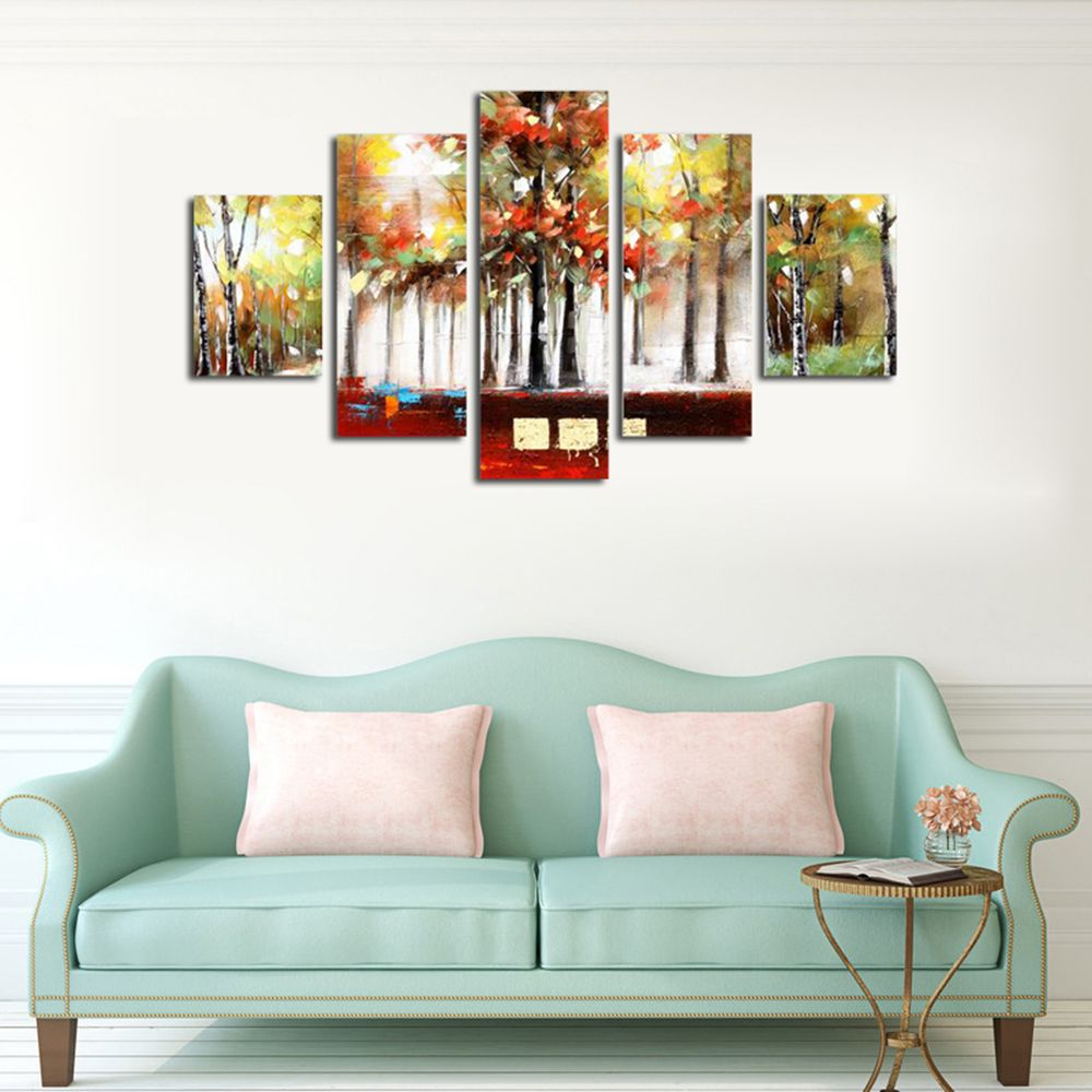 Paintings 5 Panel Military Aircraft Canvas Modern Frames