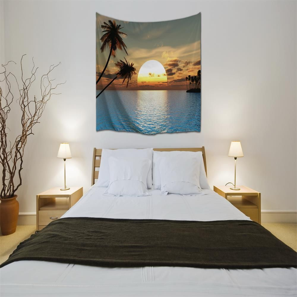 Sunset 3D Digital Printing Home Wall Hanging Nature Art Fabric Tapestry For  Dorm Bedroom Living Room