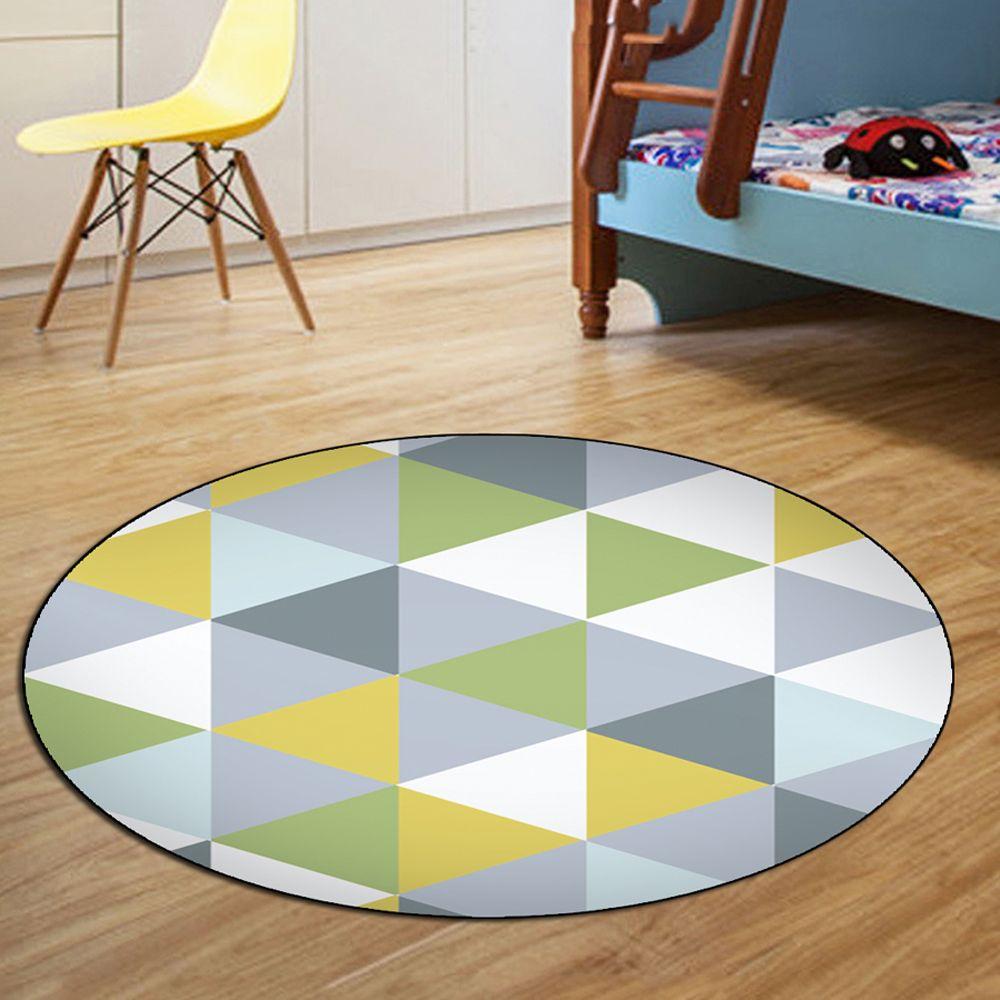 2019 Bedroom Floor Mat Modern Style Brief Triangle Pattern