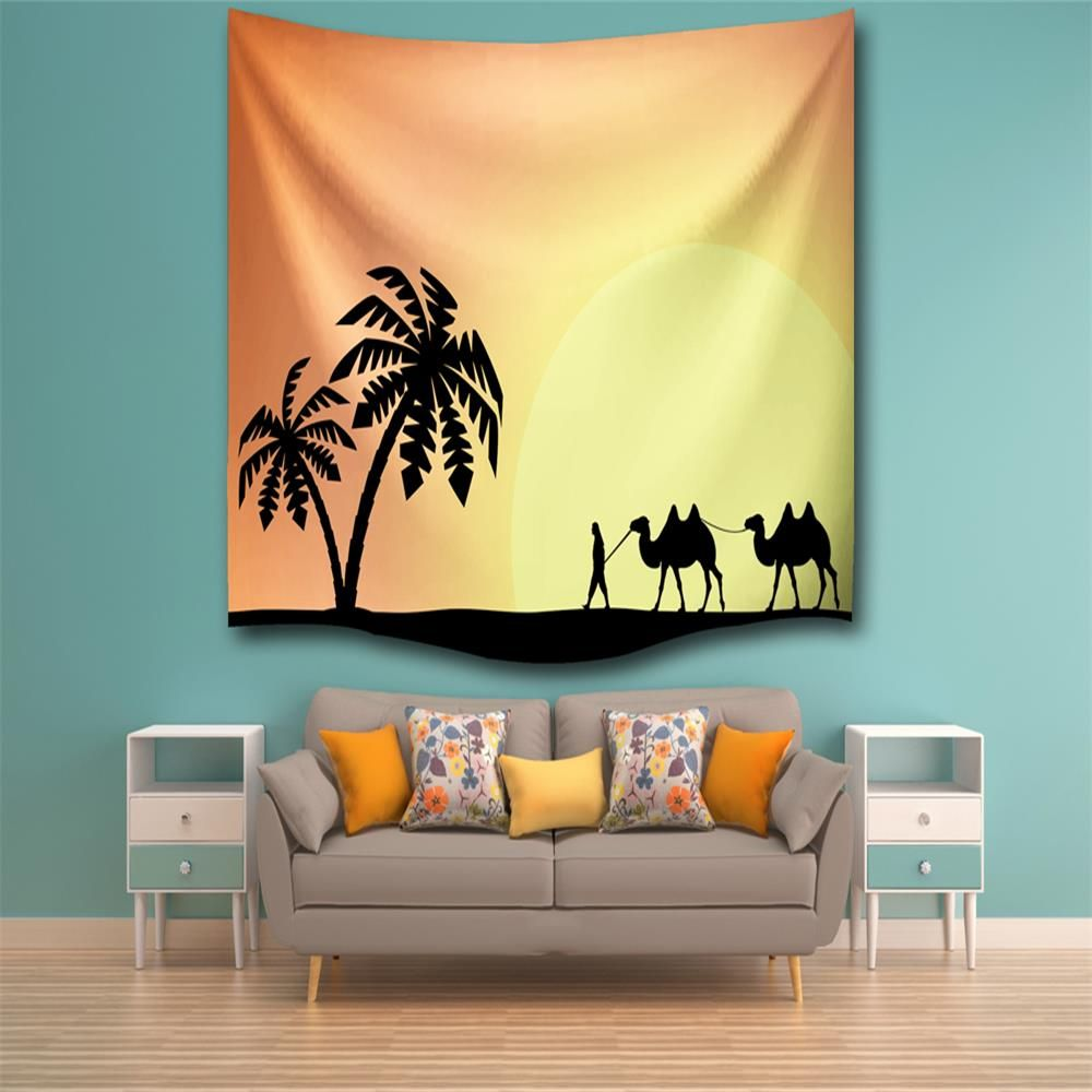 Colormix W200cmxl180cm Silhouette Camel 3d Digital Printing Home ...