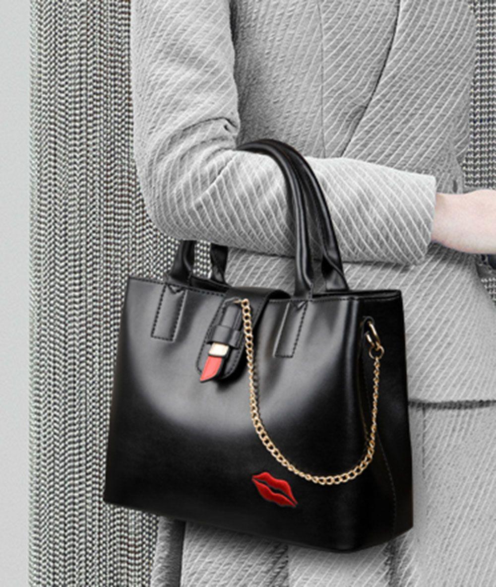 noir sac bandouli re diagonale paule portable broderie la mode. Black Bedroom Furniture Sets. Home Design Ideas