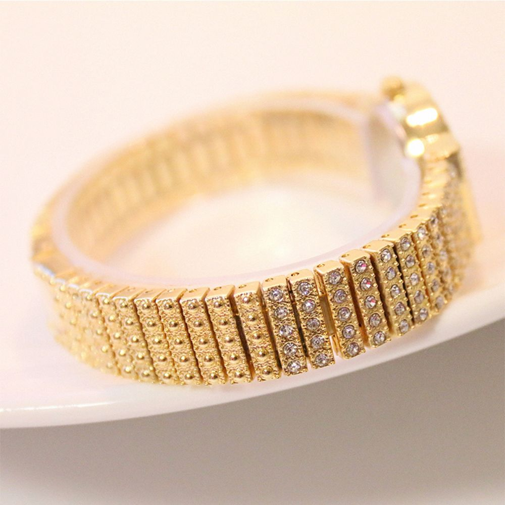 Rose Gold Fashion Women Rhinestone Rose Gold Dress Crystal Full ...