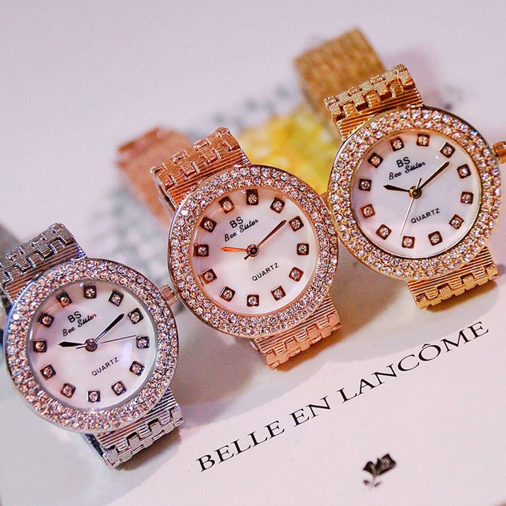 Rose gold top luxury women gold fashion lady diamond silver girl top luxury women gold fashion lady diamond silver girl smart rhinestone wrist quartz watch sciox Choice Image