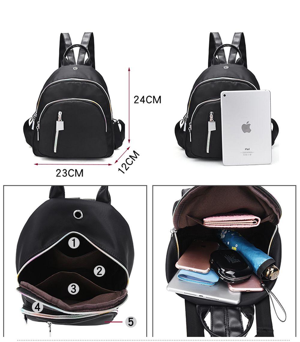 445e4a7563b0 Women Girl Casual Nylon Backpack Purse Travel Work College School Bag