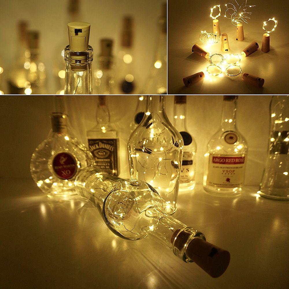 White Brelong 10led Wine Stopper Brass Lights Decorative Light Christmas Circuit 555 Aquarium Led Lighting String