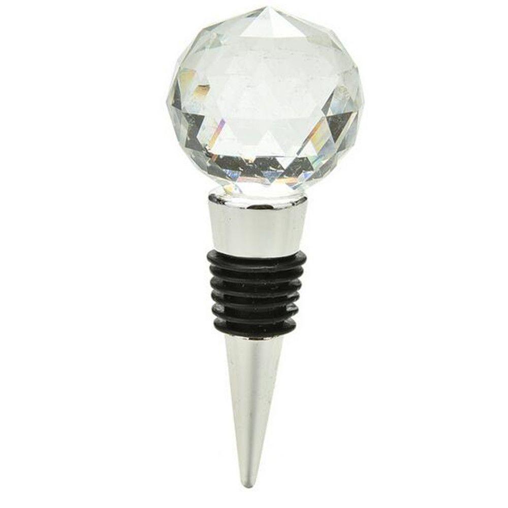 Black Big Diamond Crystal Wine Stopper Bottle Opener Bar Tools And ...
