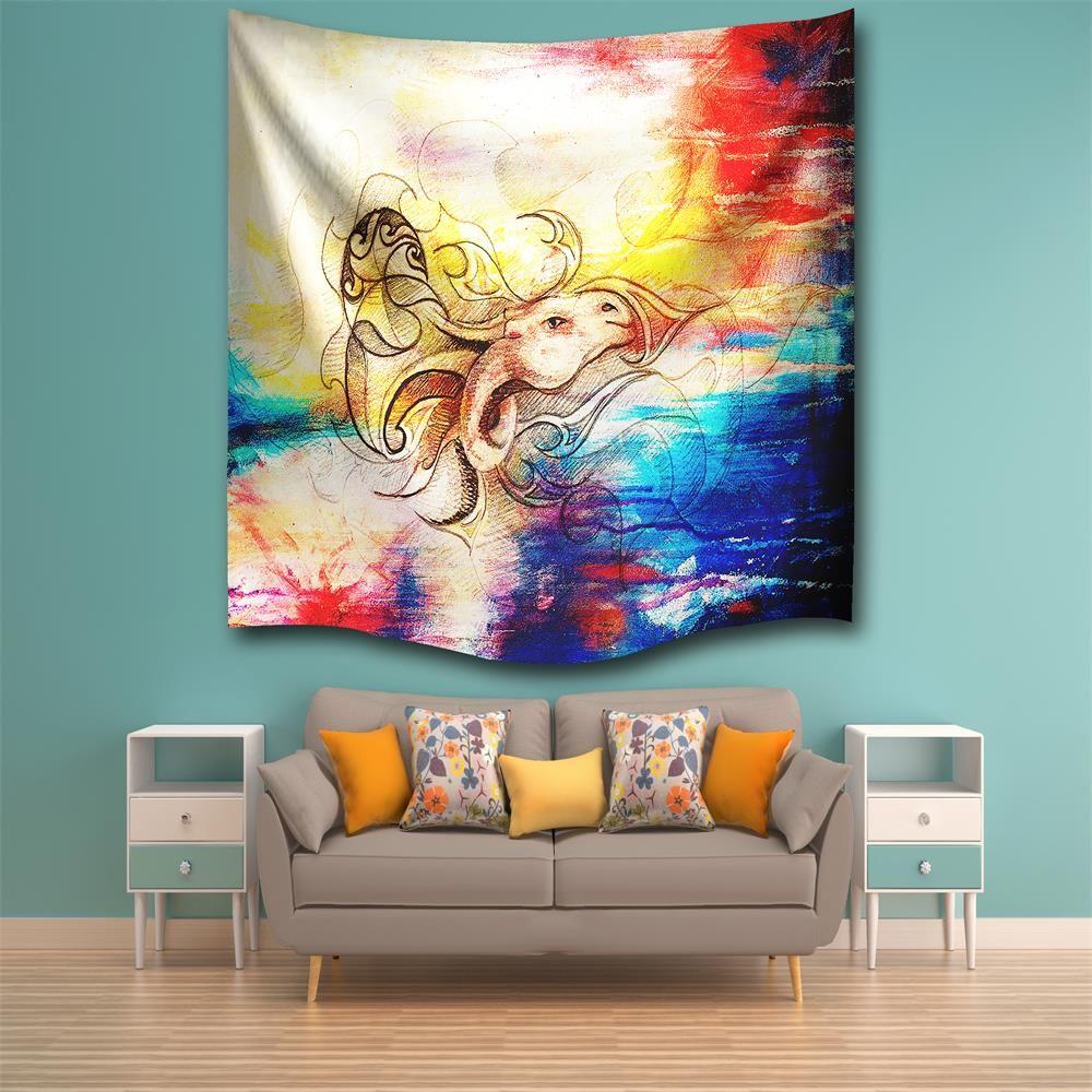 multicolore w230cmxl180cm dragon cheval 3d impression num rique maison tenture murale nature art. Black Bedroom Furniture Sets. Home Design Ideas