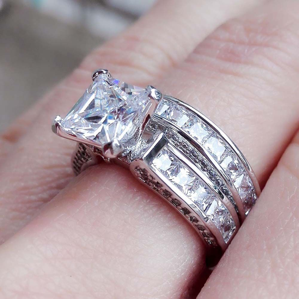 addiction silver cz ring sterling engagement s vintage rings style deco eve