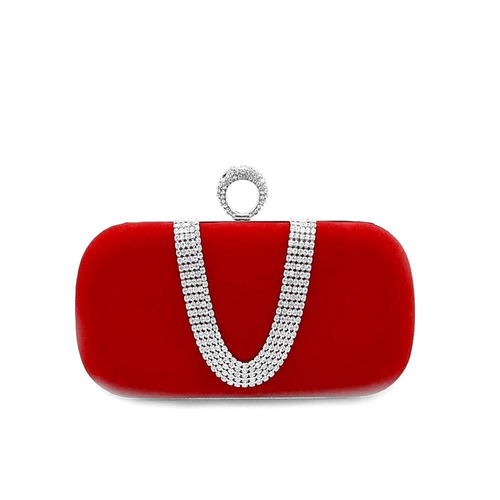Mini Bag Luxury Handbags Women Bags Designer Bride Wedding Party Diamond Velvet Las Evening Clutch