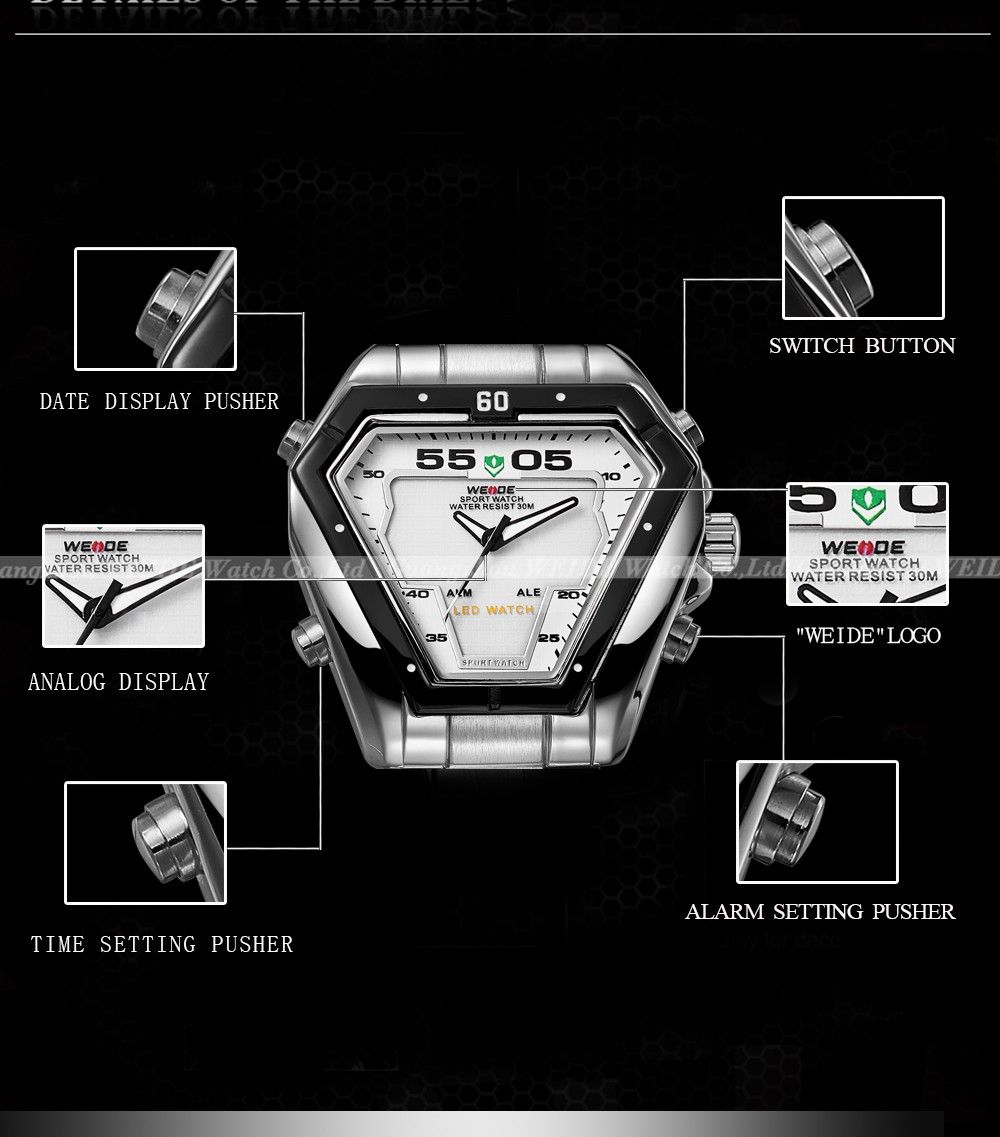 led quartz male display brand naviforce dual electronic analog digital product waterproof watch men watches clock sport