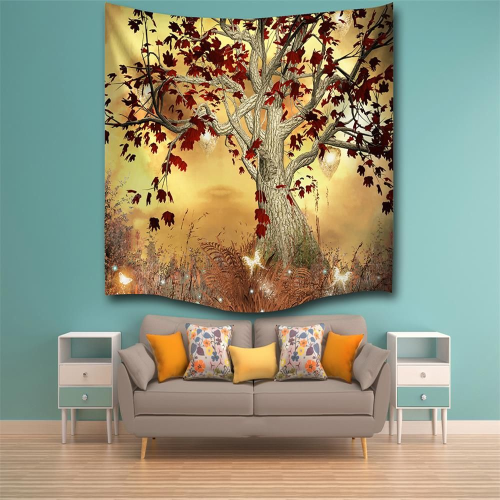 multicolore w230cmxl180cm elf arbre 3d impression num rique maison tenture murale nature art. Black Bedroom Furniture Sets. Home Design Ideas