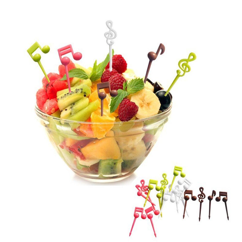 Colormix Best Selling Musical Notes Fruit Fork Fancy Children Bento ...
