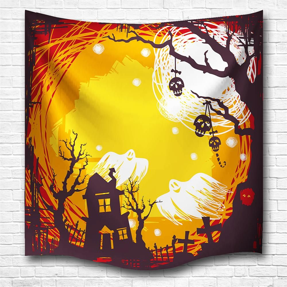 Colormix W153cmxl130cm The Skeleton Ghost 3d Digital Printing Home ...