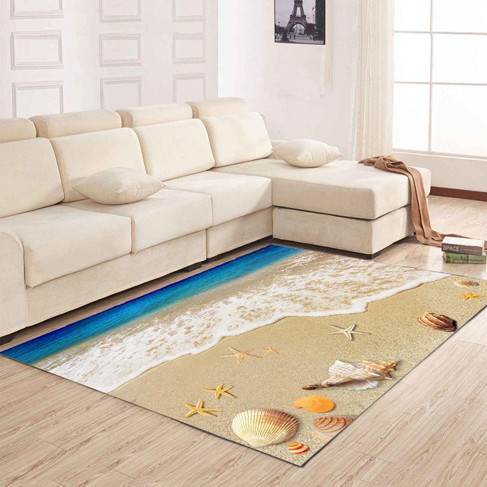 Colormix 50x80cm Living Room Floor Mat Delicate Vivid Sea Style ...