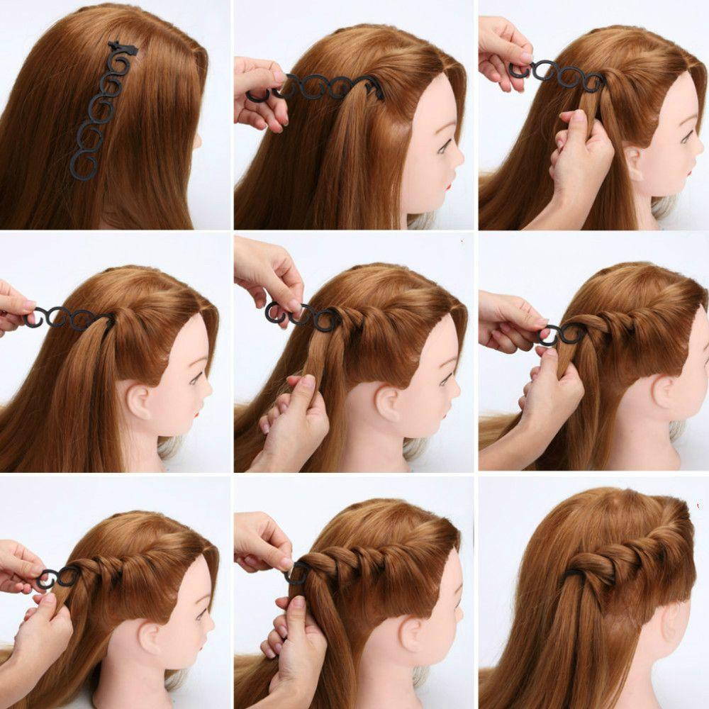 2019 2pcs Set Hair Braiding Tool Hair Braider With Hook Hair Edge