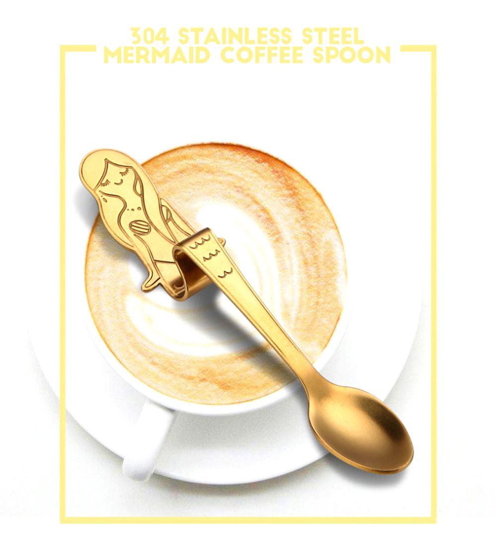 2018 Stainless Steel Coffee Spoon, Mermaid Spooon, Hanging Cup Spoon ...