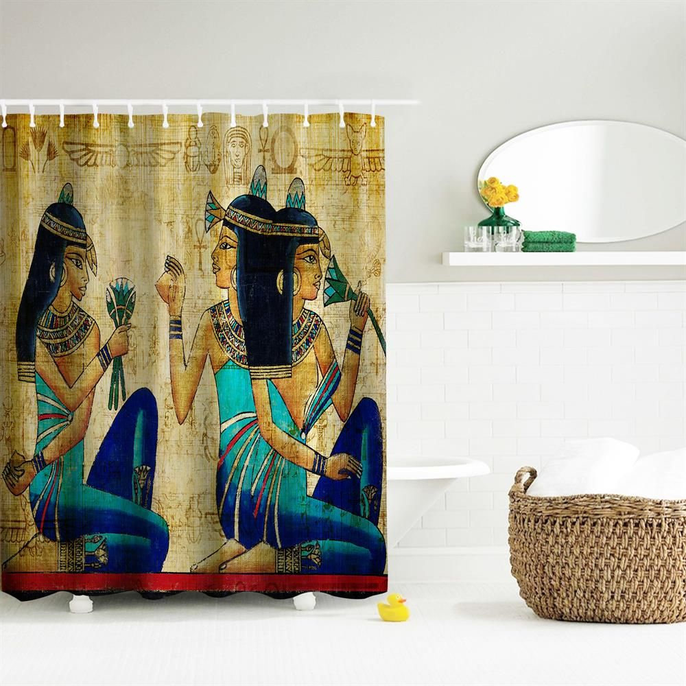 27 Off 2019 Ancient Egyptian Women Polyester Shower