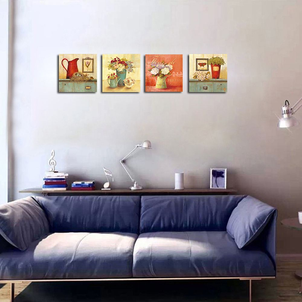 Colormix 40cmx40cmx4 Qiaojiahuayuan No Frame Canvas Living Room Sofa ...