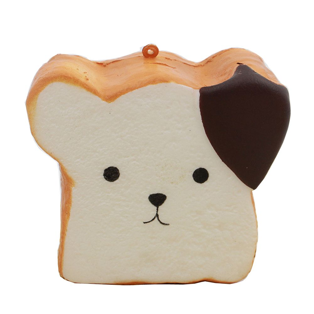 [32% OFF] Jumbo Squishy Squeeze PU Toast Dog Packaging