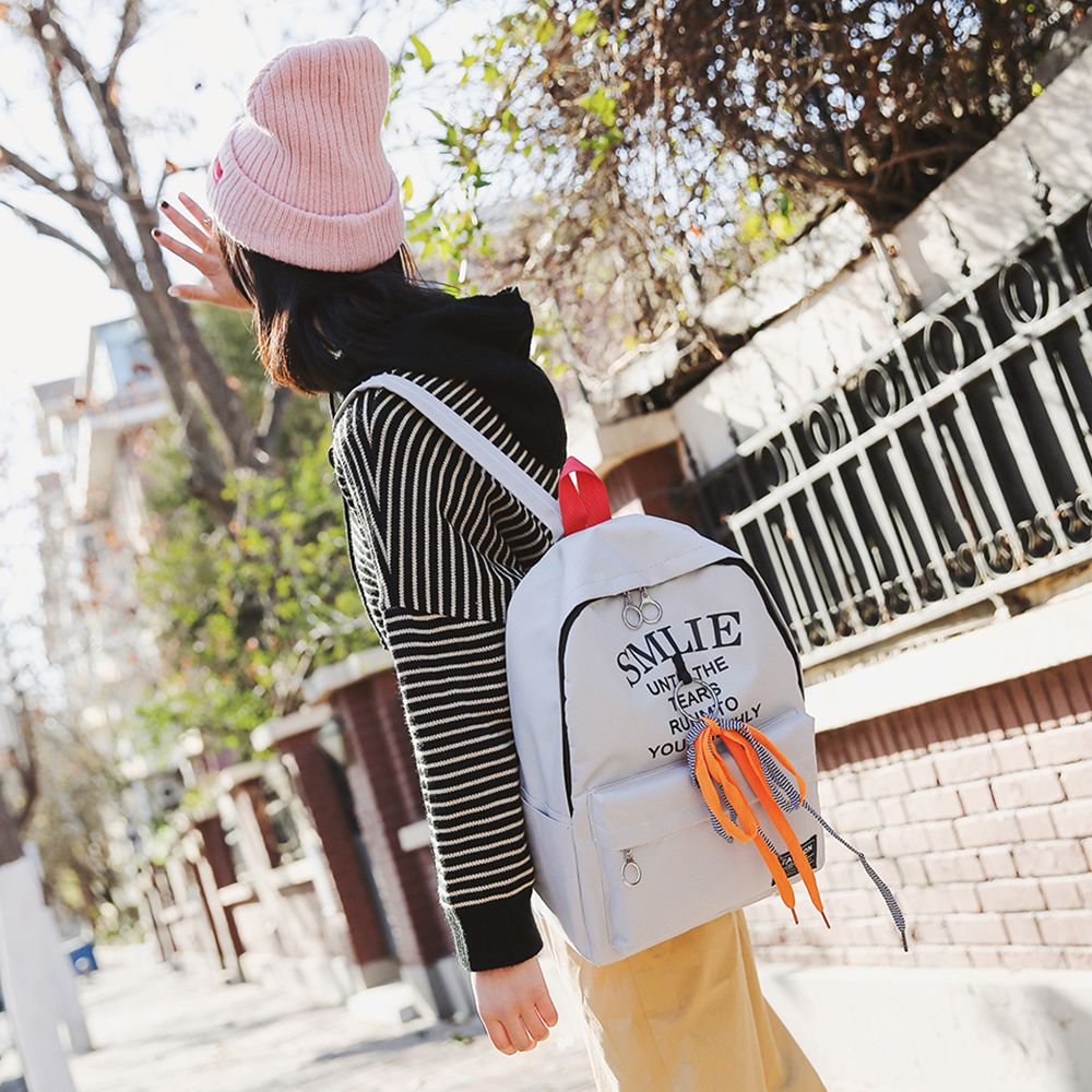 b2d4f6c6c37b 2019 Girl s Backpack Bandage Decoration Letter Stylish Schoolbag ...