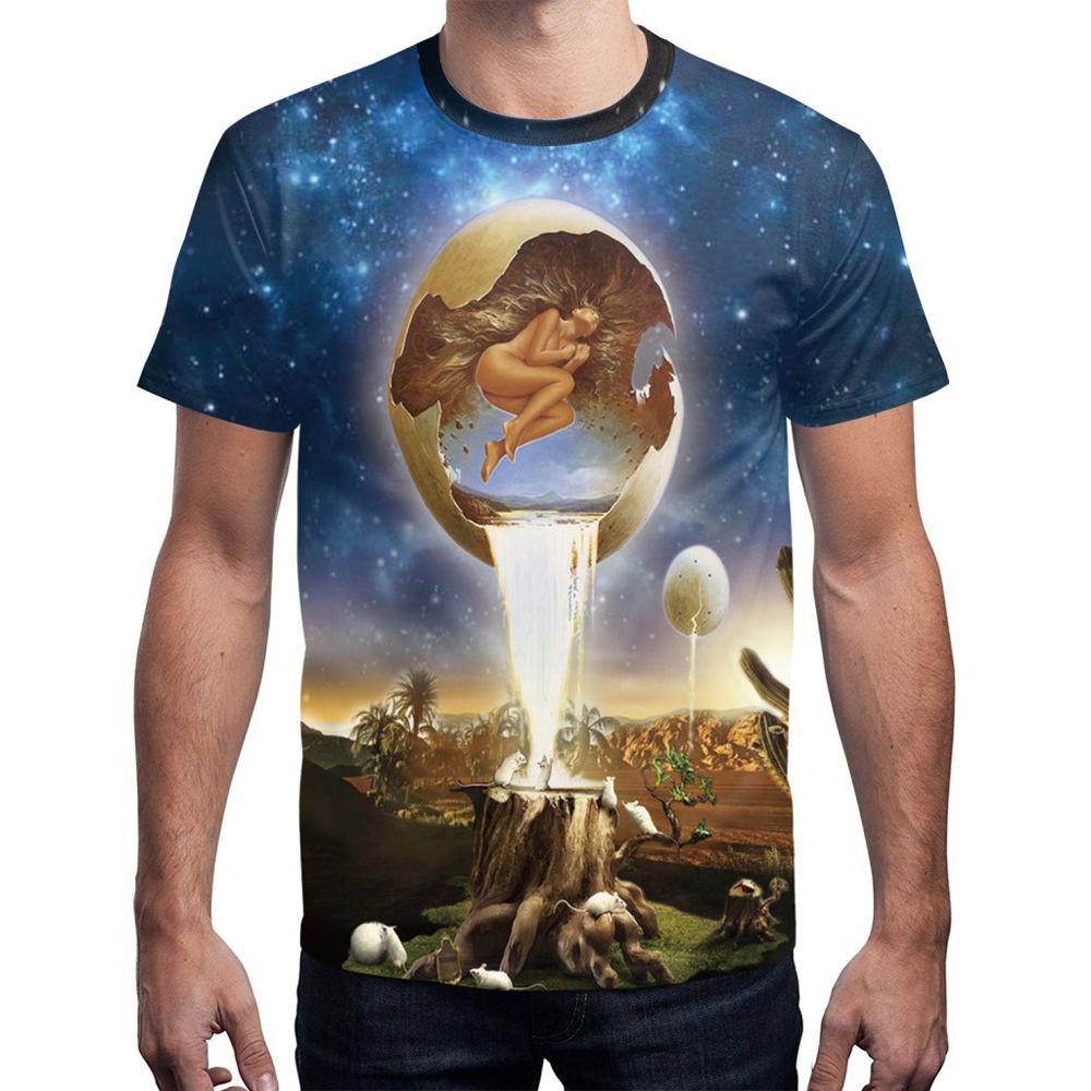 2019 3d Digital Printing Loose T Shirt Rosegal