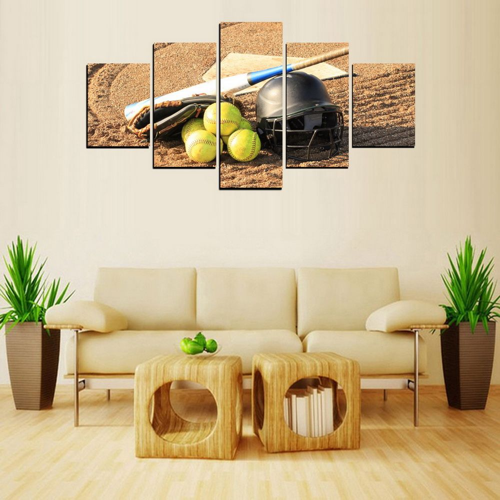 Colormix Framed Mailingart Fiv451 5 Panels Landscape Wall Art ...