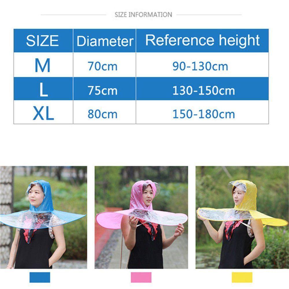 fa2cf9656066e 27% OFF  Portable Folding Rain Coat Umbrella Hat For Kids Adults Old ...