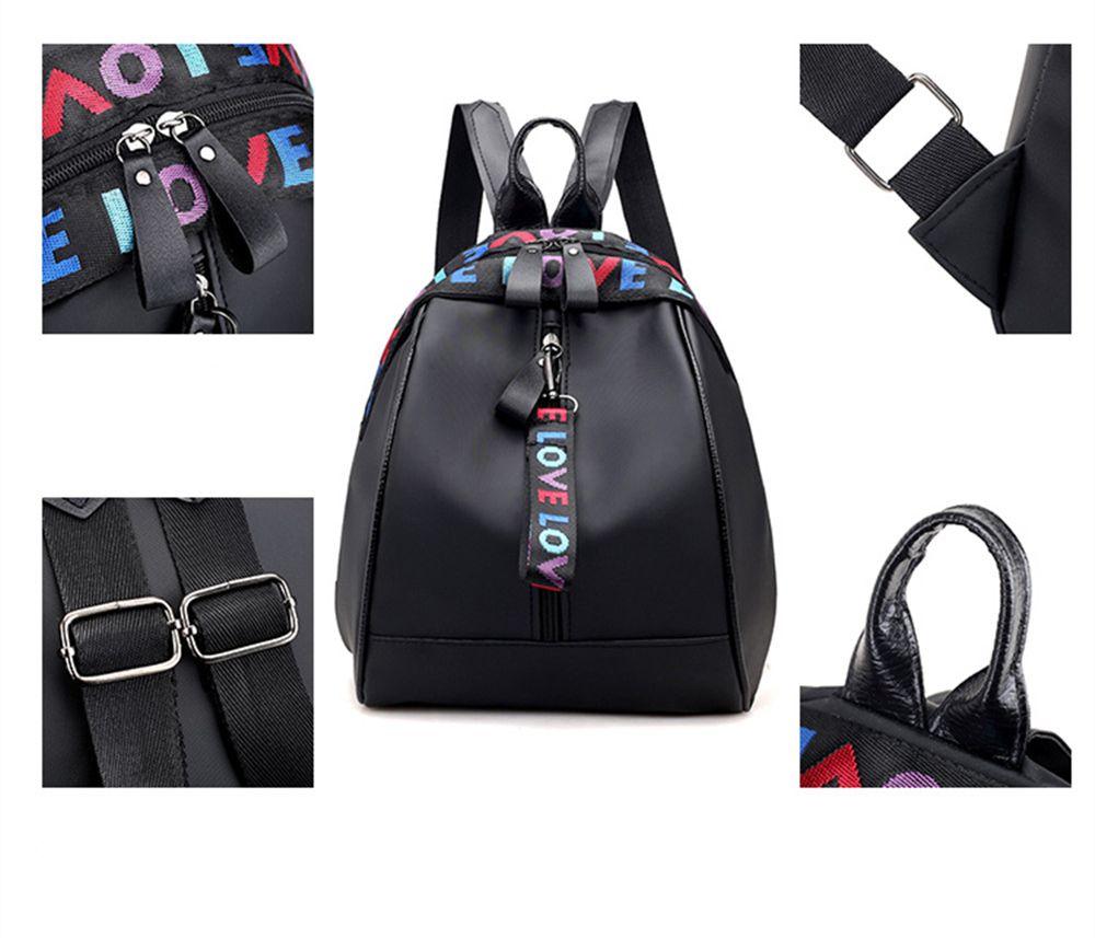 f88af28d91 2019 Nylon Fashion Wild Little Fresh Female Student Travel Backpack ...