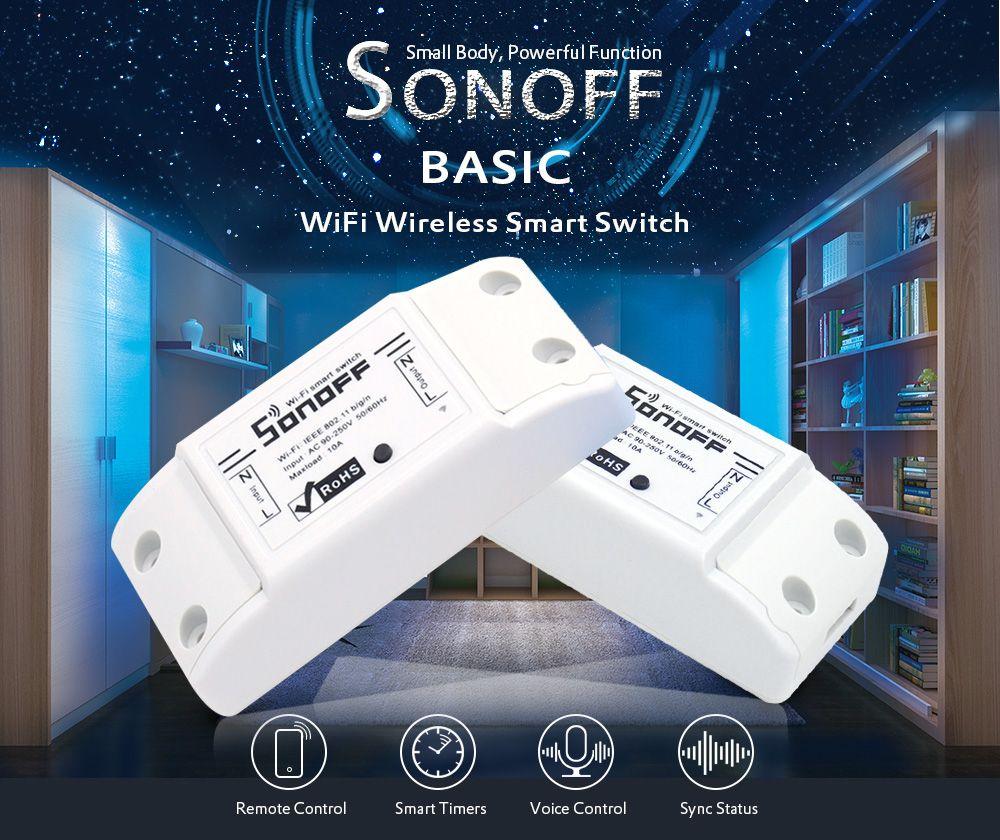 Wyłącznik Wi-Fi SonOff za 3.99$ (14,80zł) - Rosegal