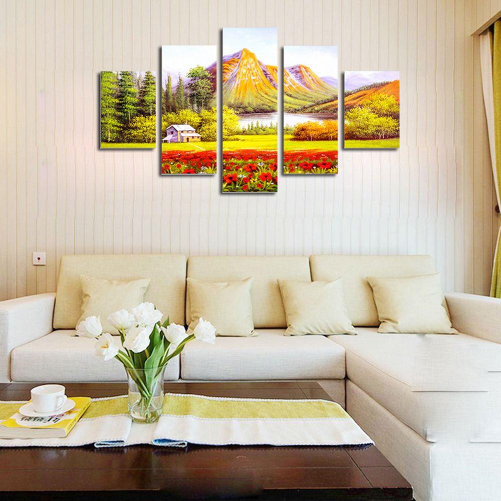 Multi Qiaojiahuayuan No Frame Canvas Living Room Sofa Background ...