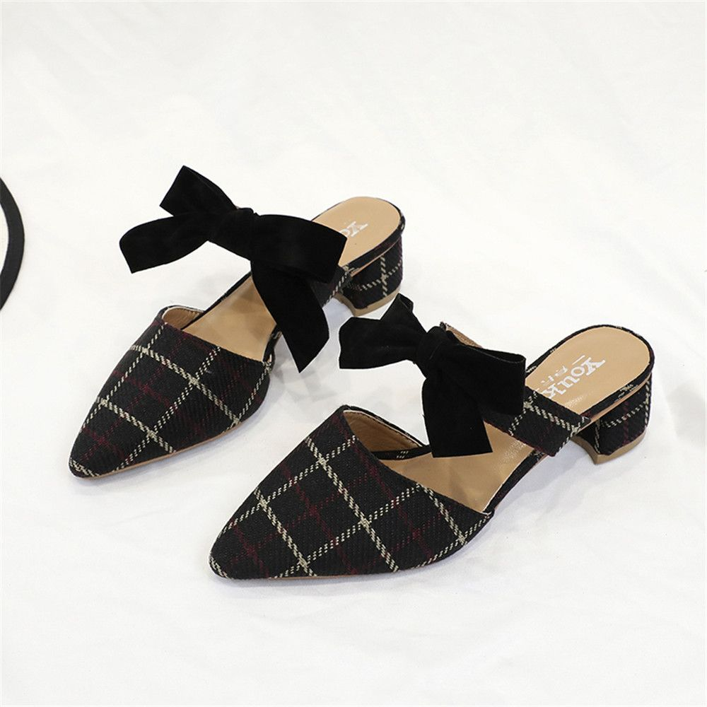 Pointy Bowknot Coarsely Shoes