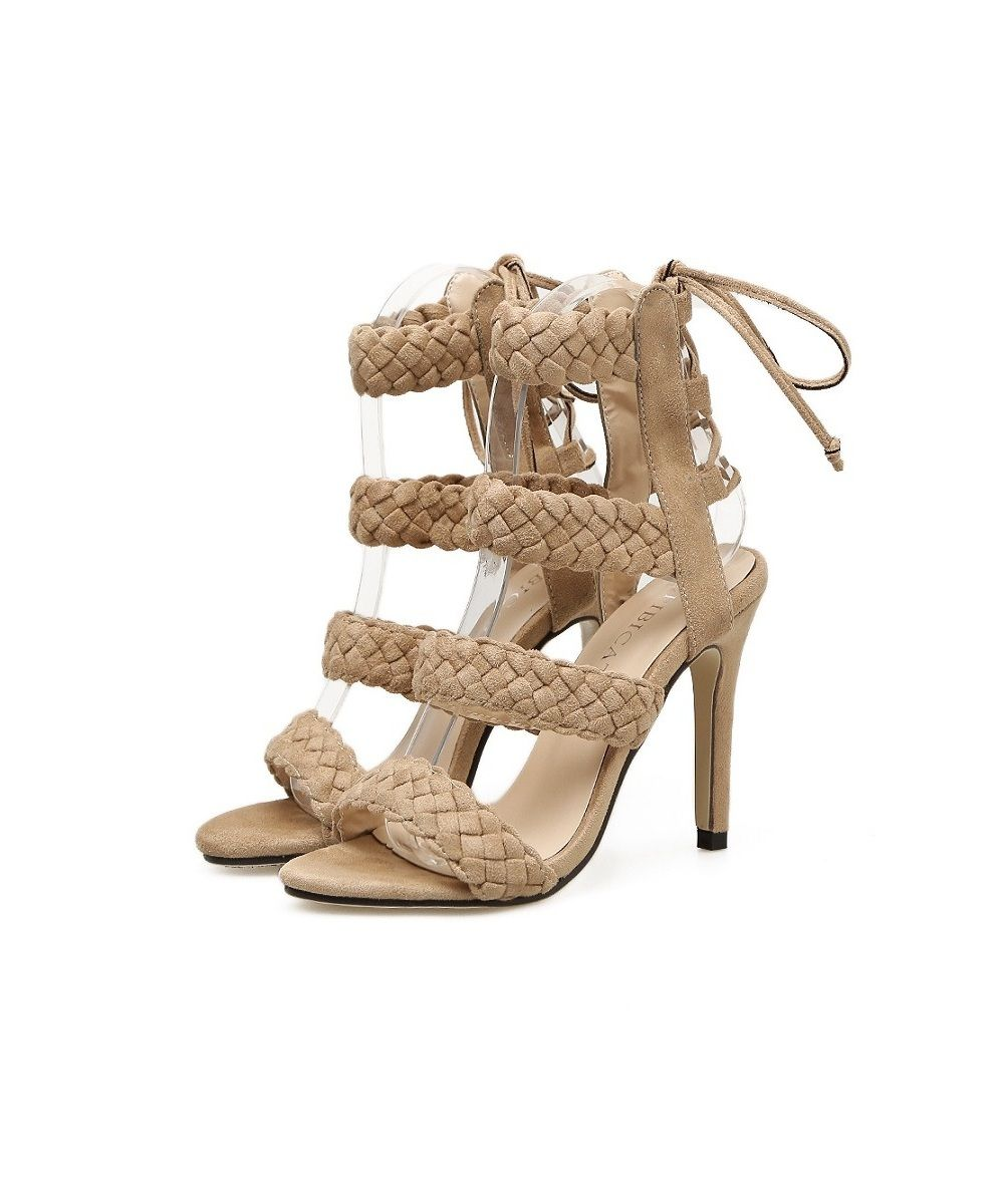 The New Summer 2018 Fashion Hemp Shoes Are Made Up of Women'S Sandals with Thin - Warm White - 39