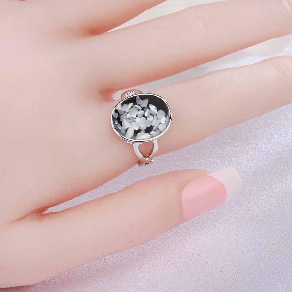 Milk White Us Size 10 Stylish Minimalist Vintage Stone Ring ...