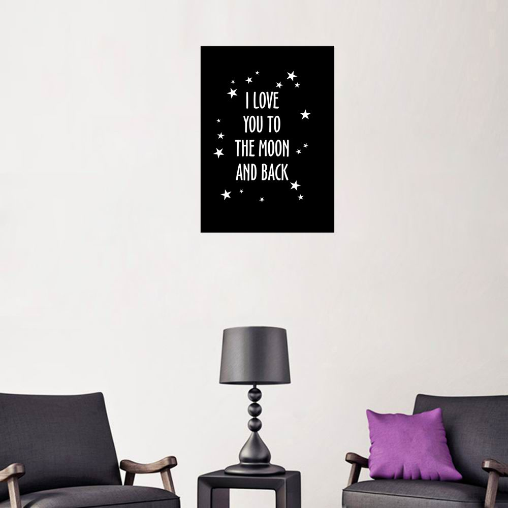 2018 W264 Letters Frameless Wall Canvas Prints For Home