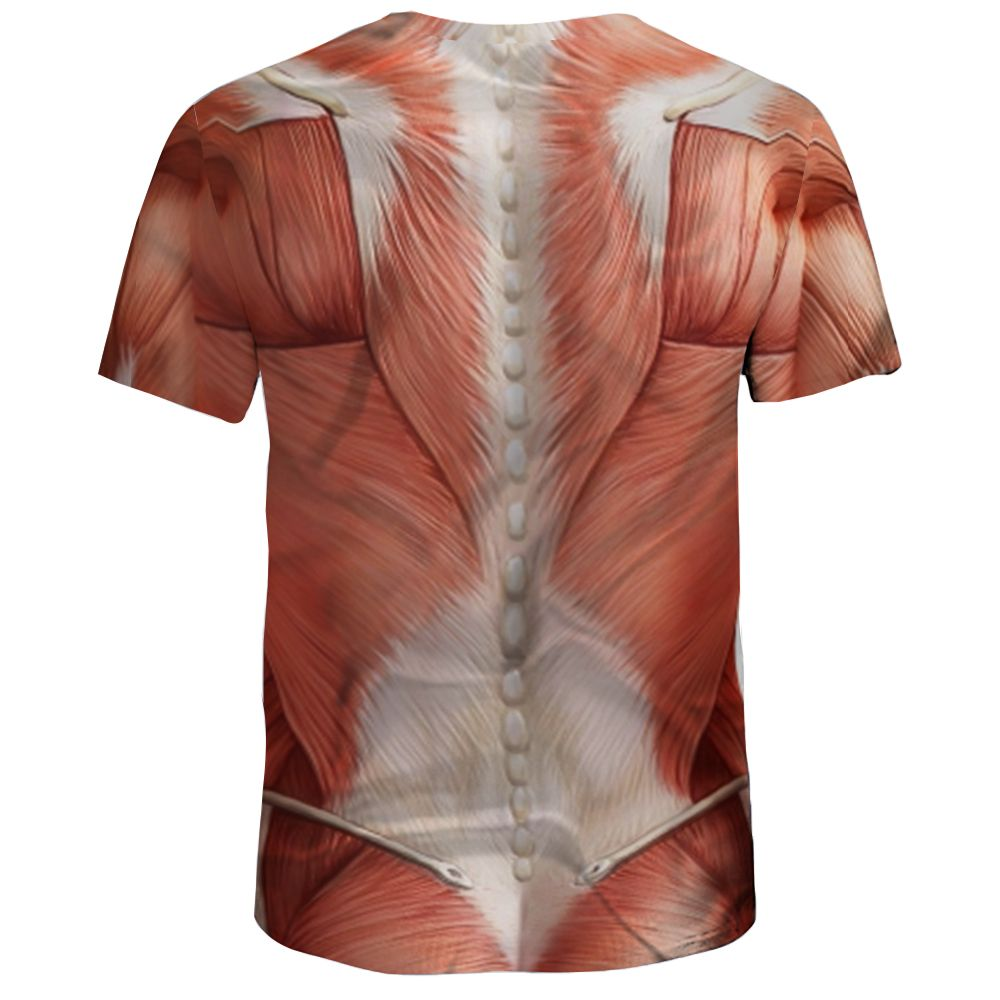 2018 New 3d Muscle Print Mens Round Neck Short Sleeved T Shirt In