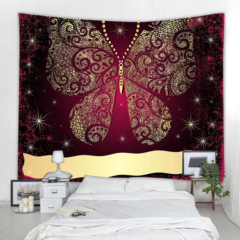 Multi A W230cmxl180cm Elegant Gold Butterfly 3d Printing Home Wall